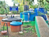 Food waste digester built by Biotech Ltd, South India