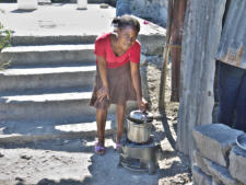 D&E Enterprises stove in Haiti
