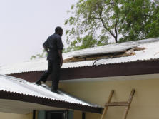 KXN solar panel on clinic roof in Northern Nigeria