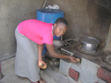 Jellitone Suppliers Briquettes being used in a stove in Uganda