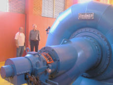 Hydro turbine used by CRELUX to generate electricity