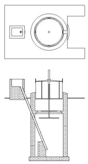 Drawing of drum plant